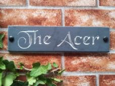 Engraved slate house name sign / address plaque – 300 x 75; 11.8 inches x 3 inches